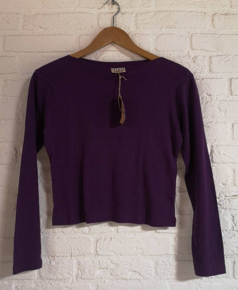 Paarse basic top