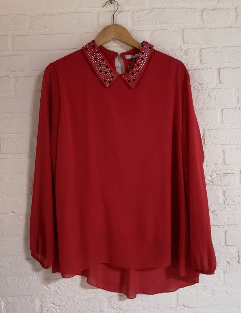 Rode blouse