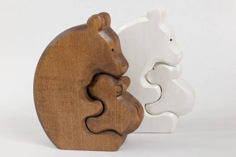AdP Bear and Cub - White