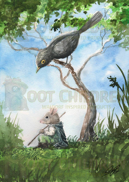 Card - Redgwick the Mouse and the Blackbird