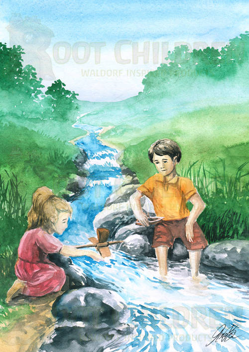Original - Playing in the River