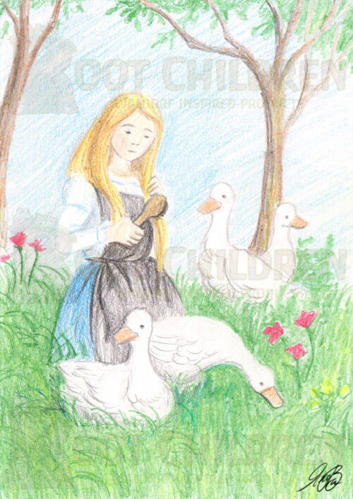 Card - The Goose Girl