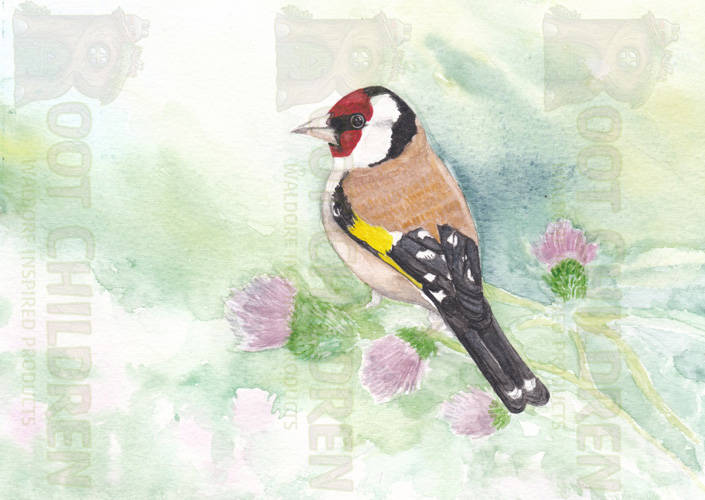 Card - Gold finch