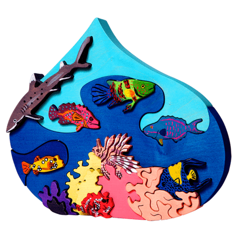 Fauna Toys - Red Sea Droplet Puzzle