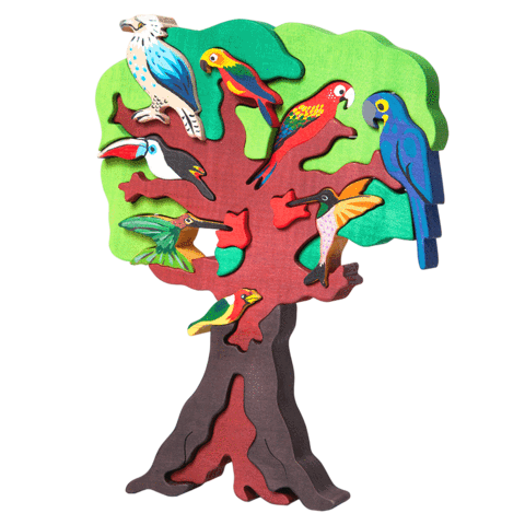 Fauna Toys - South-American Birds Tree Puzzle
