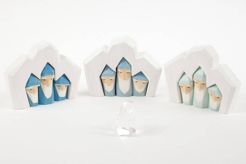 AdP Gnomes in Crystal - Light Blue