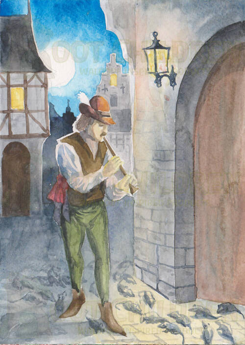 Card - Pied Piper of Hamelin