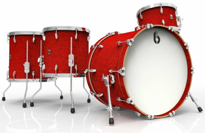 British Drum Co, Legend Rock 24 Buckingham Scarlett drumset