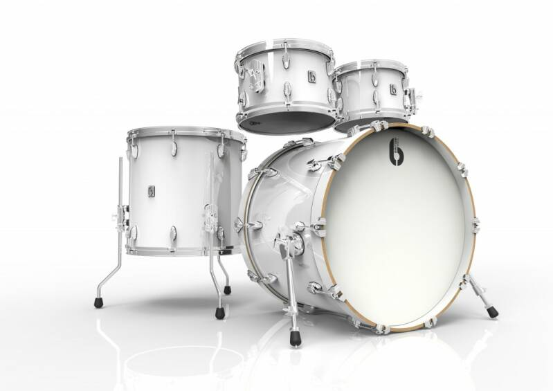British Drum Co, Legend Fusion 22 Piccadilly White drumset