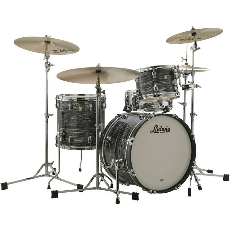 """Ludwig Classic Maple, Downbeat Vintage Black Oyster 20"""""""