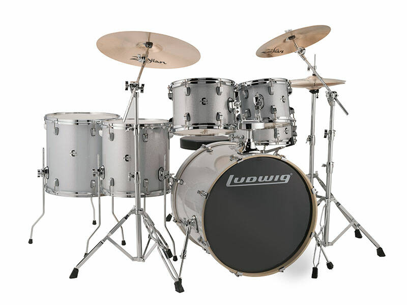 Ludwig Evolution, Silver White Sparkle 6 piece 22 inch