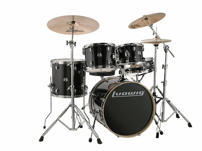 Ludwig Evolution, Black Sparkle 5 piece 20 inch