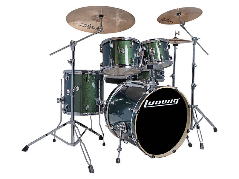 Ludwig Evolution, Emerald Sparkle 5pc 20 inch