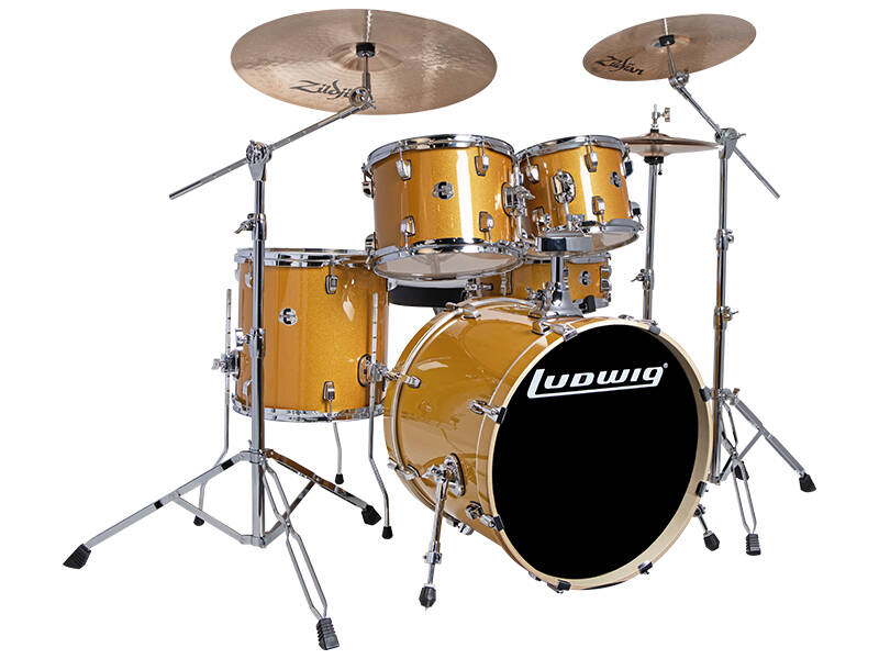 Ludwig Evolution, Gold Sparkle 5pc 20 inch