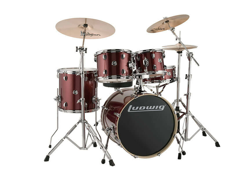 Ludwig Evolution, Red Wine Sparkle 5 piece 20 inch