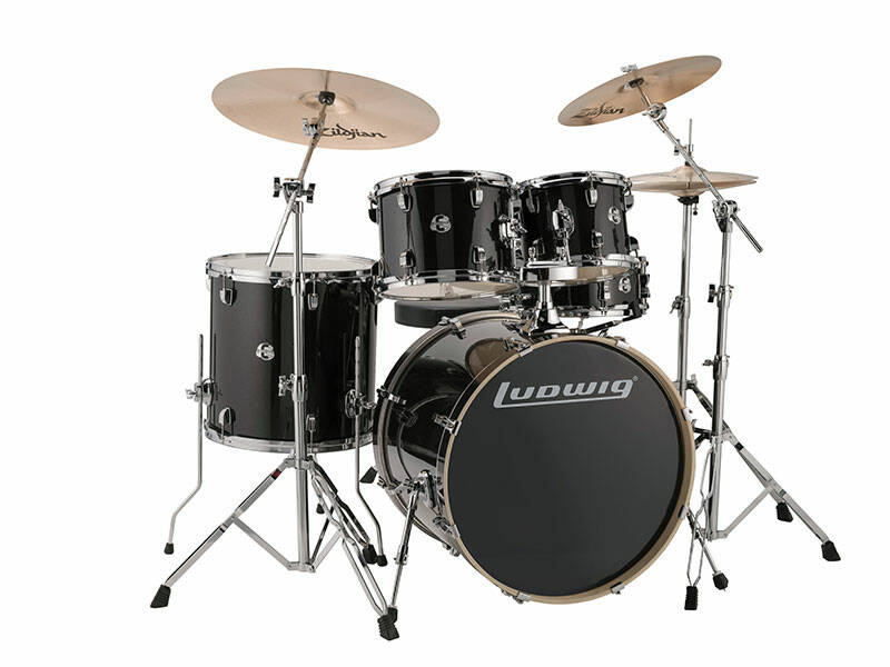 Ludwig Evolution, Black Sparkle 5 piece 22 inch