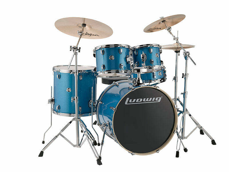 Ludwig Evolution, Blue Sparkle 5 piece 22 inch