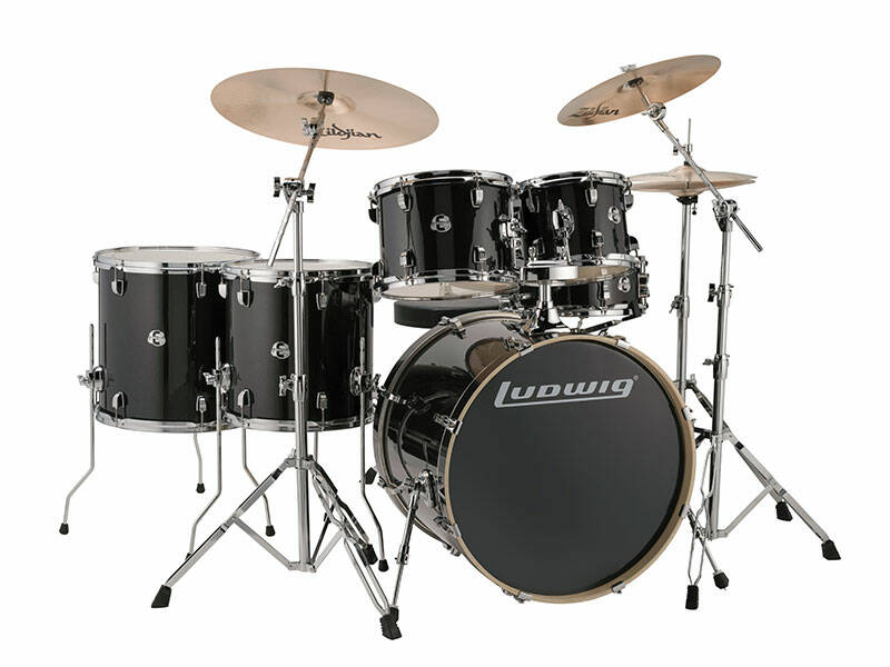 Ludwig Evolution, Black Sparkle 6 piece 22 inch