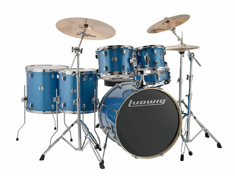 Ludwig Evolution, Blue Sparkle 6 piece 22 inch