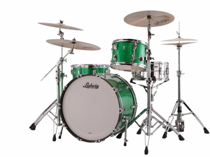 """Ludwig Classic Maple, Pro Beat Green Sparkle 24"""""""