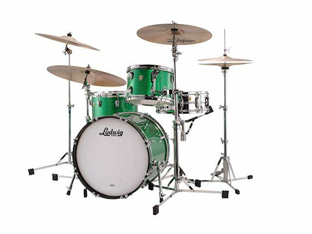 """Ludwig Classic Maple, Downbeat Green Sparkle 20"""""""