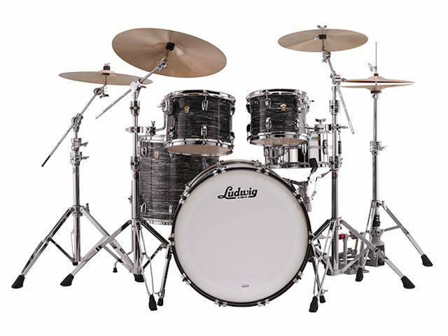 """Ludwig Classic Maple Mod Vintage Black Oyster 22"""""""