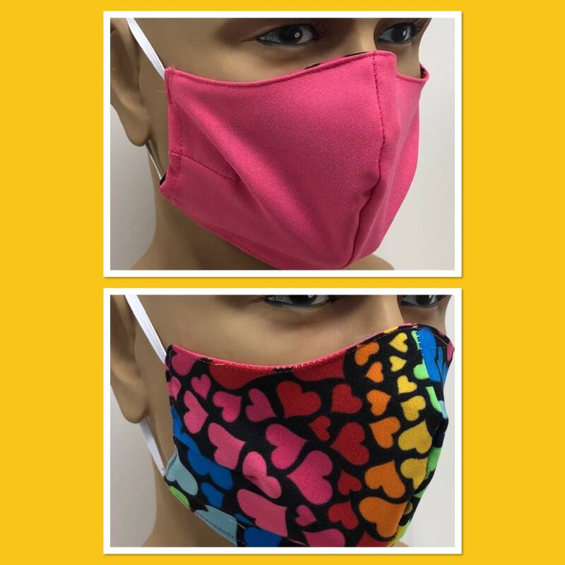 Mondmasker Pink / Color Hearts (221306.225)