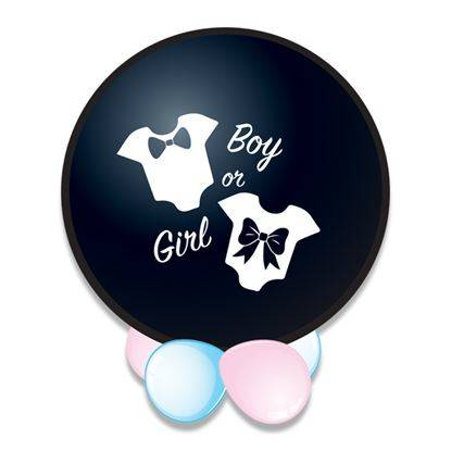 Geboorte: It's a boy/Gril confetti ballon (Ø61cm)