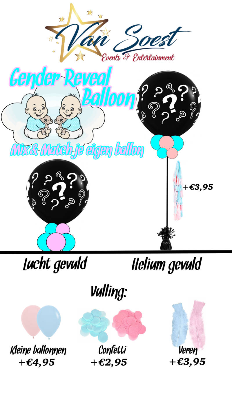Gender Reveal Ballon || Mix & Match