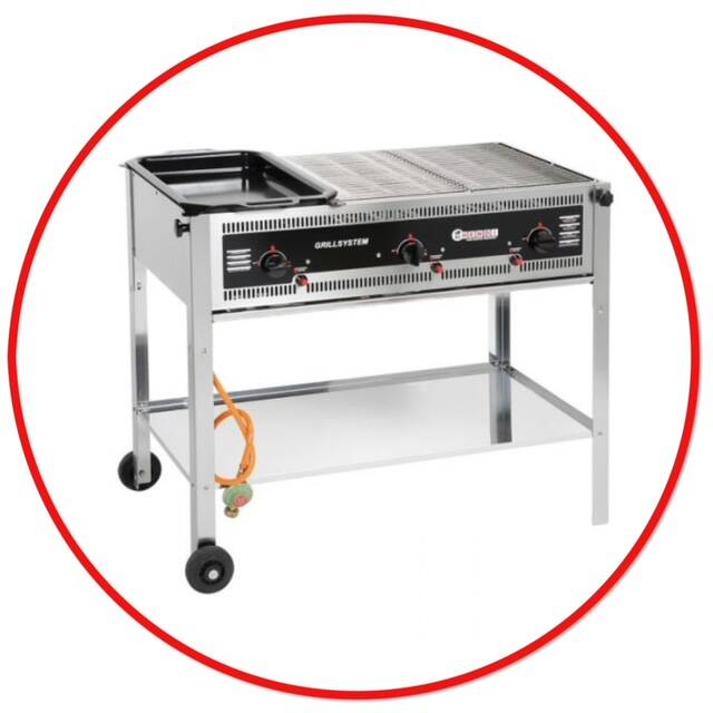 Barbecue op Gas RVS