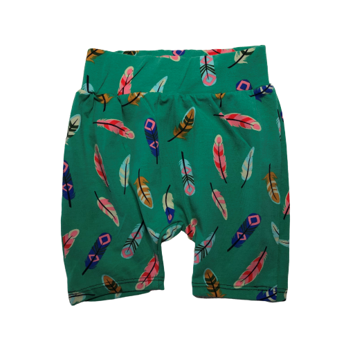 Green Feathers Shorts
