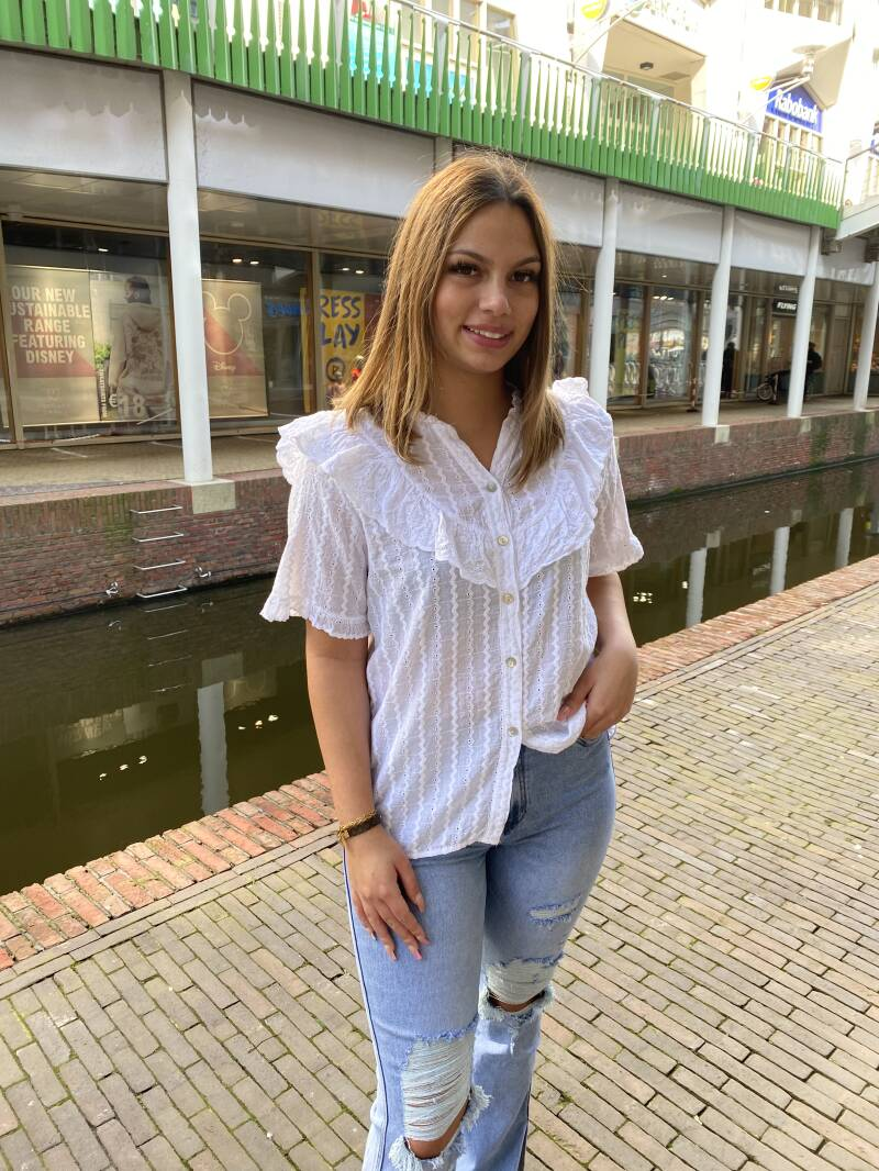 Witte blouse ruf