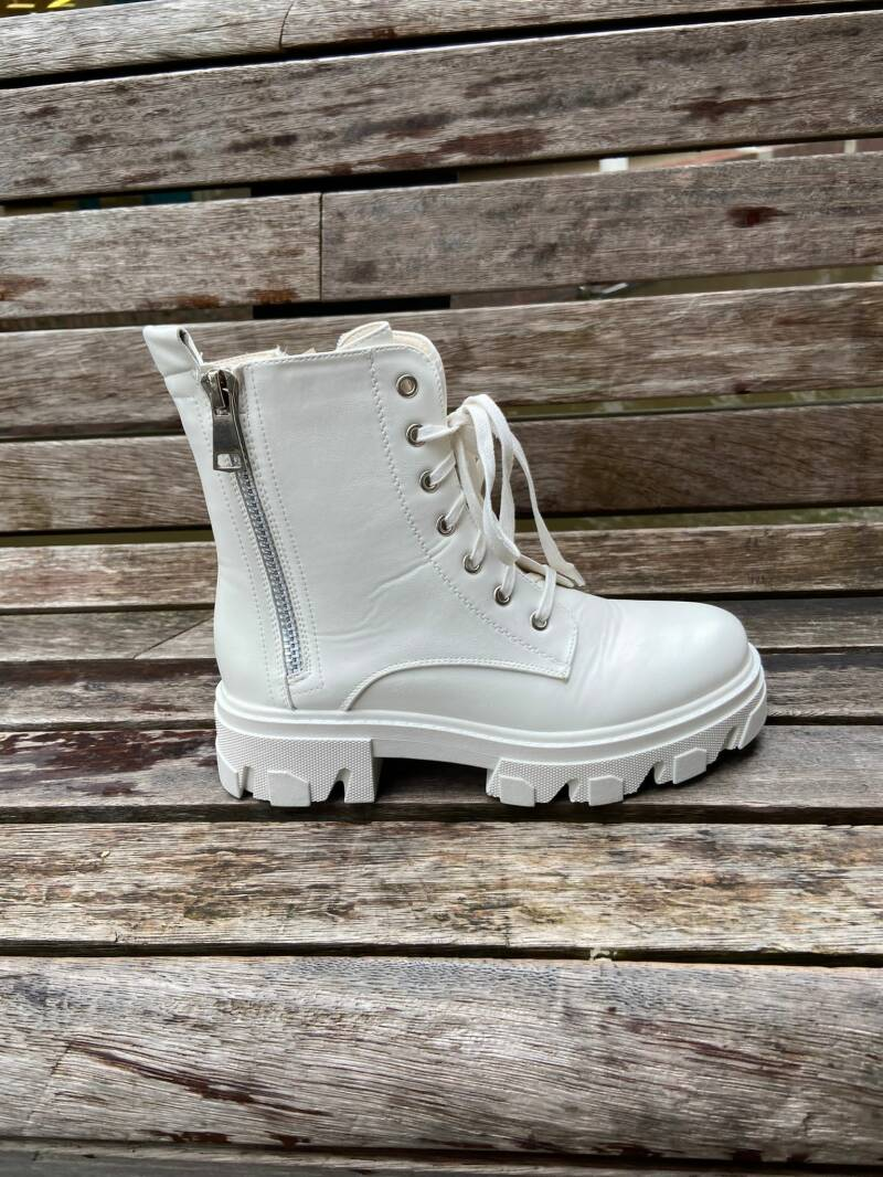 Rits boots wit