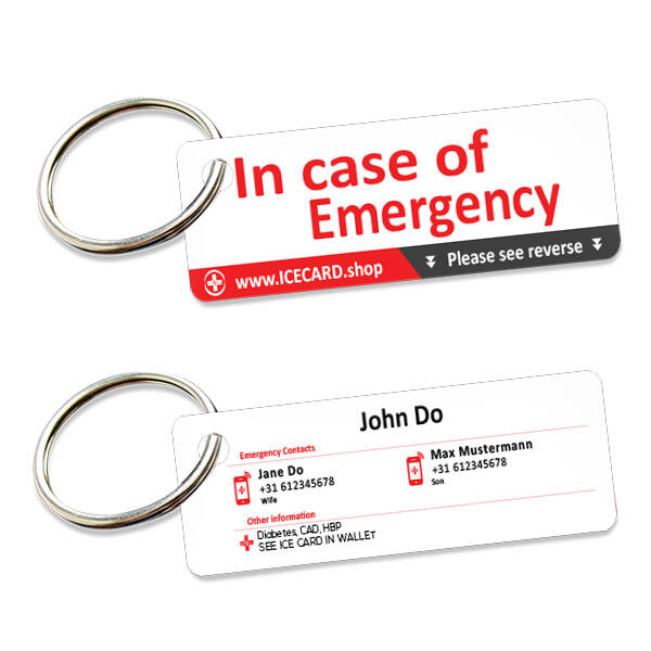 ICE tags - Set of 2