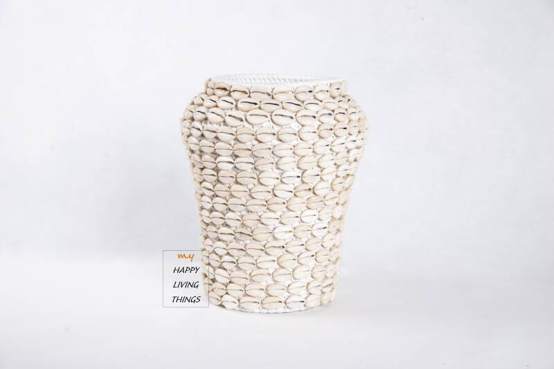 Basket Rattan/Shell - Natural
