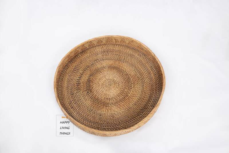 Tray rattan Maxi brown color
