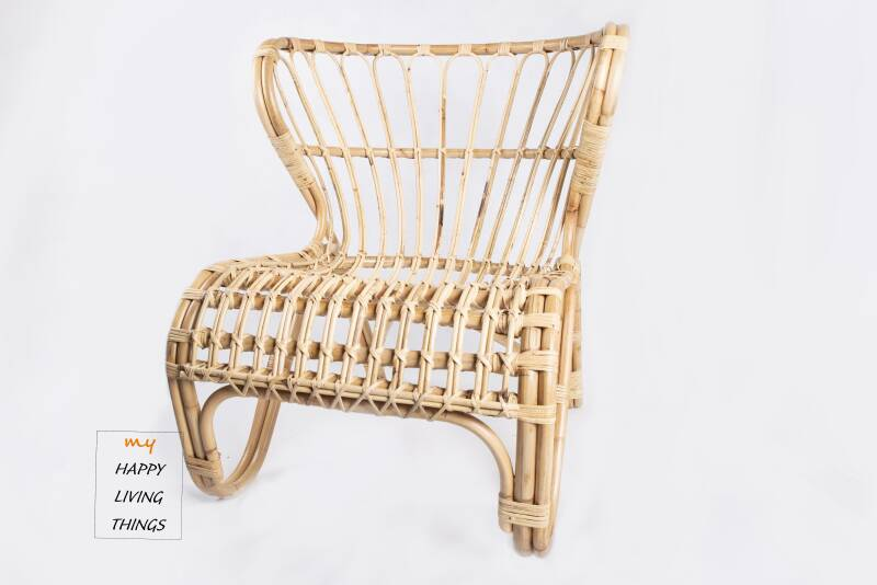 Design boho chair, ratan natural