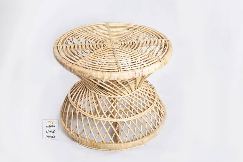 Coffee table, natural rotan