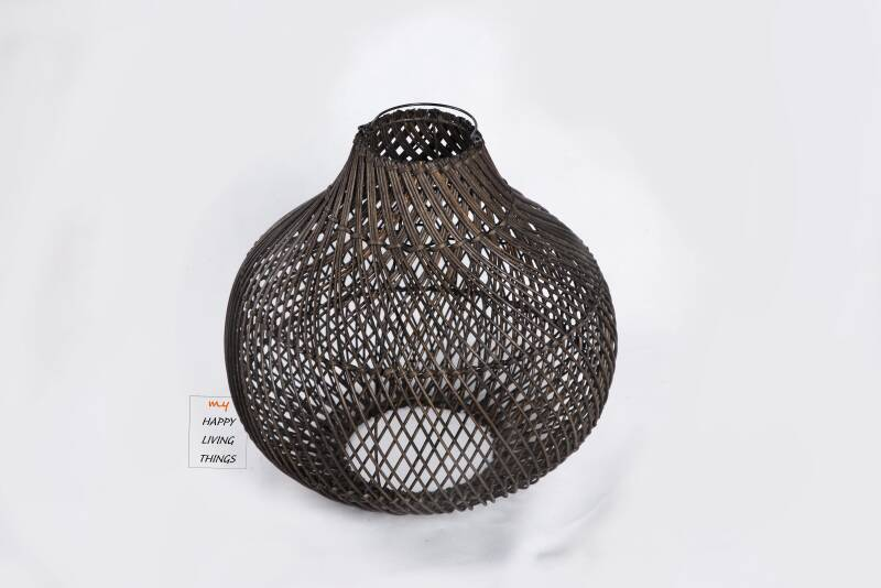 Lamp-shade Bombay dark brown : small