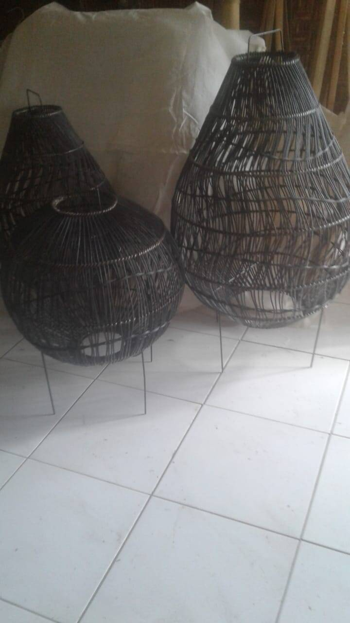 Floorlamp Bola solak Set of 3 Black