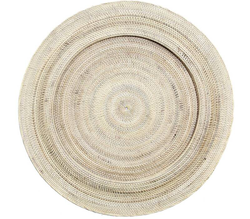 Wall decoration, rattan plate