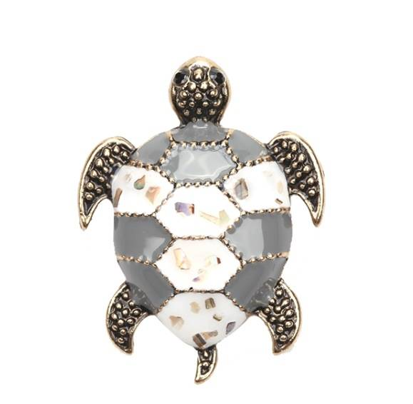 Broches schildpad grey