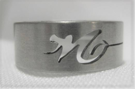 [13014]  Ring stainless steel (maat 18)