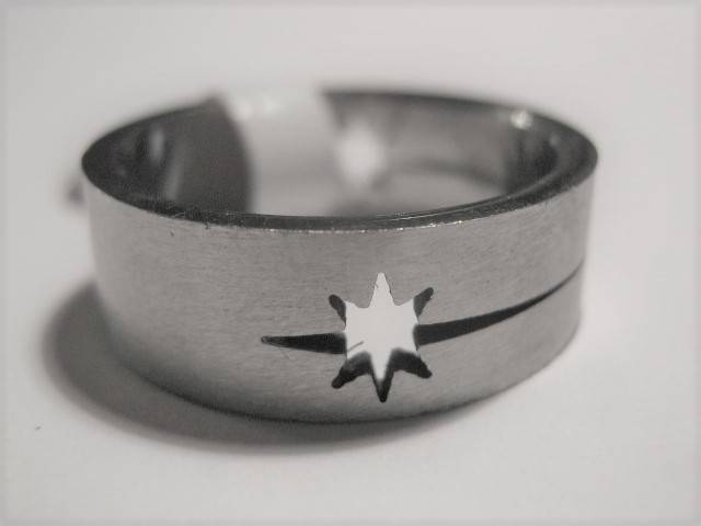 [13024]  Ring stainless steel (maat 18)