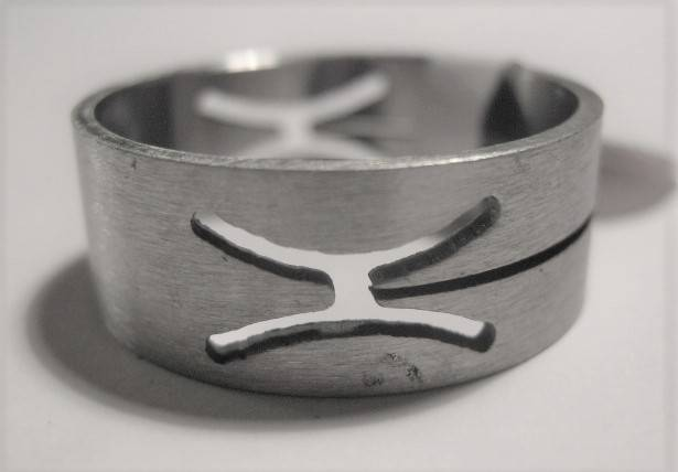 [13036] Ring stainless steel (maat 20)