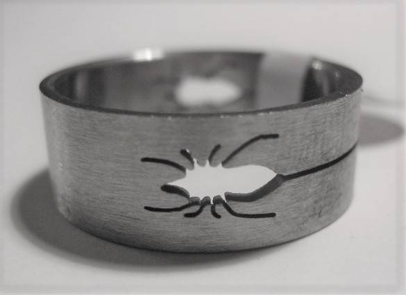 [13037]  Ring stainless steel (maat 20)