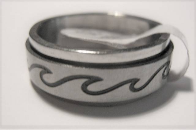 [13044]  Ring stainless steel (maat 18)