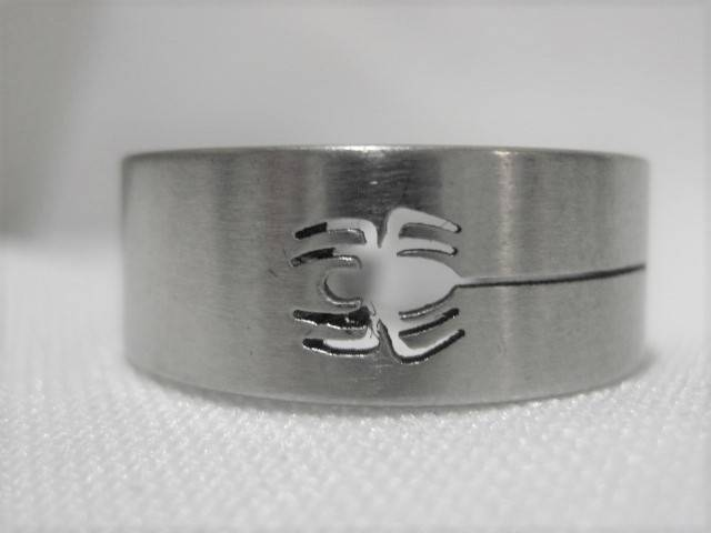 [13089]  Ring stainless steel (maat 20)