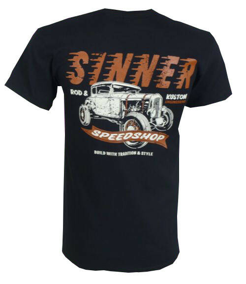 [29029]  Zwart t-shirt van Sinner Supply