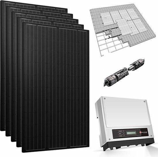 6 zonnepanelen 360 Wp mono all-black pakket